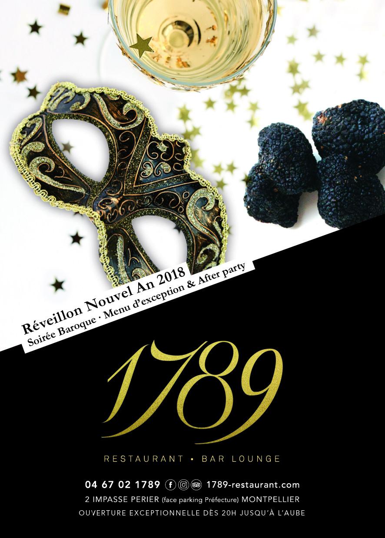 31 12 Reveillon Du Nouvel An 2018 1789 Restaurant Bar Lounge