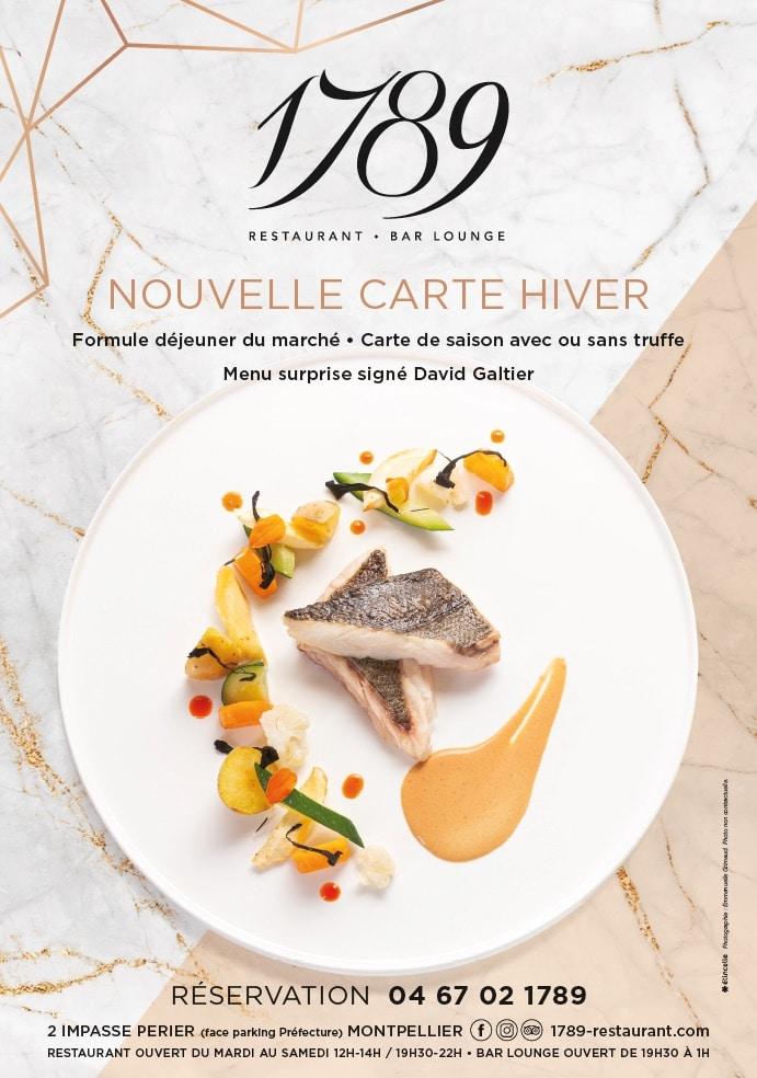 1789 restaurant Montpellier nouvelle carte hiver 2020