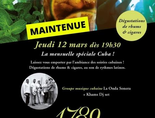 Jeudi 12 mars : la mensuelle spéciale Cuba !